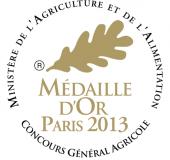 Medaille d'or Concours général agriculture Paris 2013