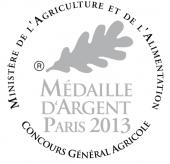 Medaille d'argent Concours général agriculture Paris 2013