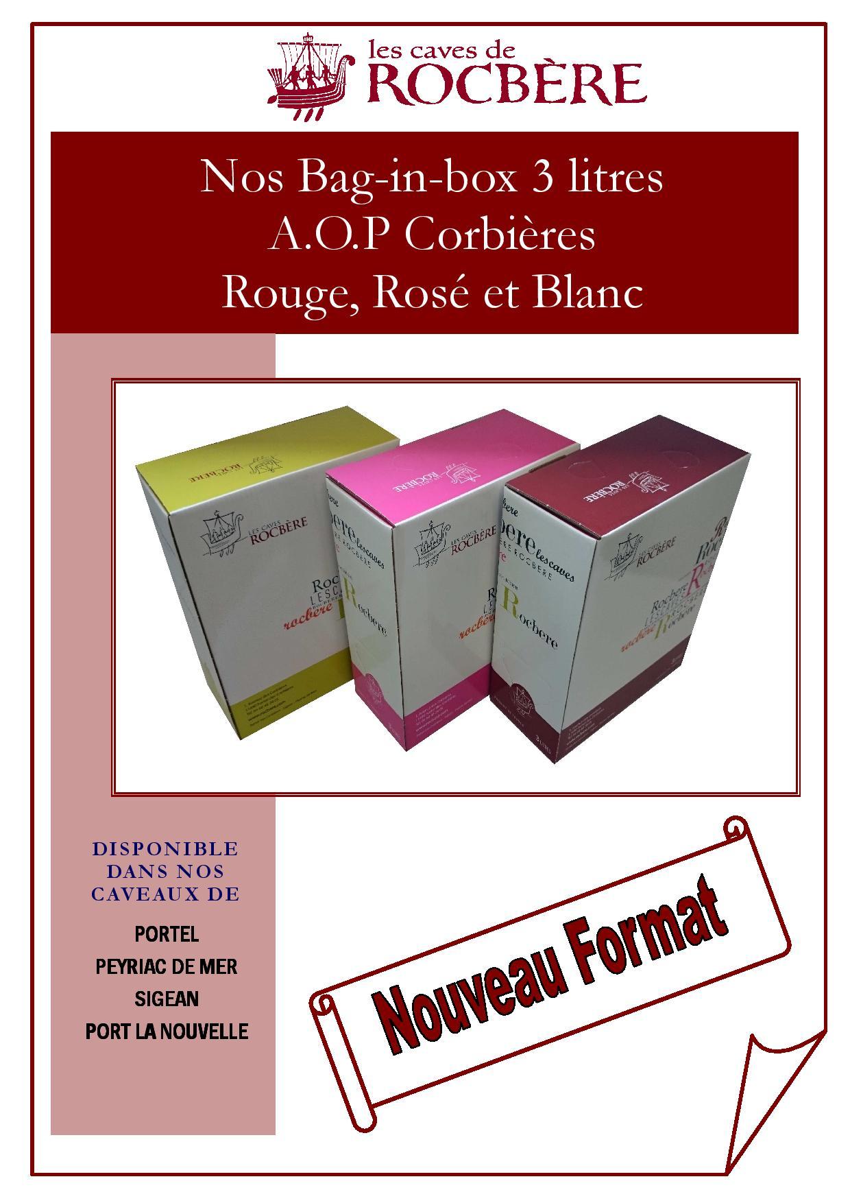Bag in box a o p 3 litres - 2400 chemin des vignes 11210 port la nouvelle ...